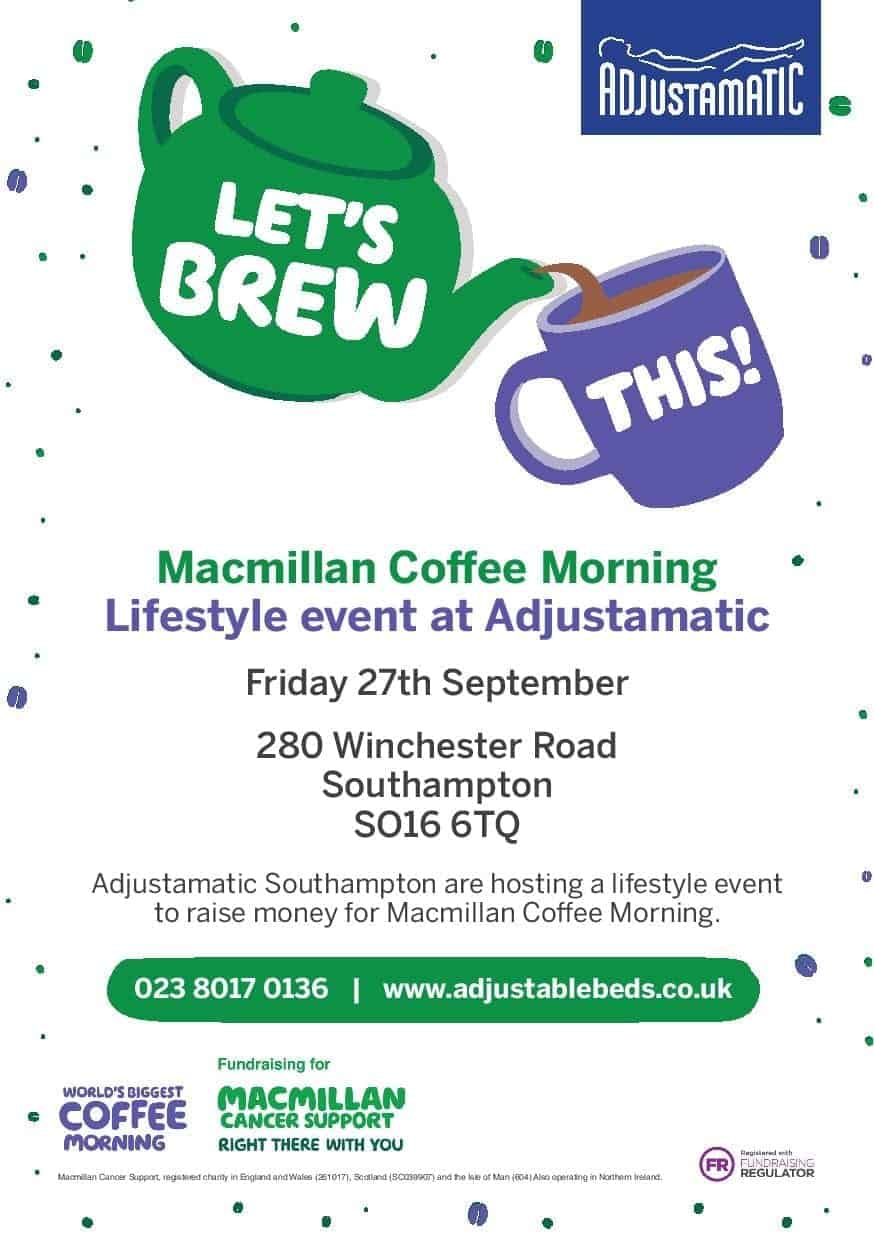 Coffee morning with Adjustamatic
